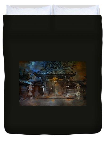 Gate..asian  Moon. Duvet Cover