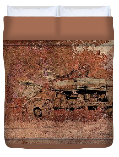 Grandpa's Old Tractor Duvet Cover