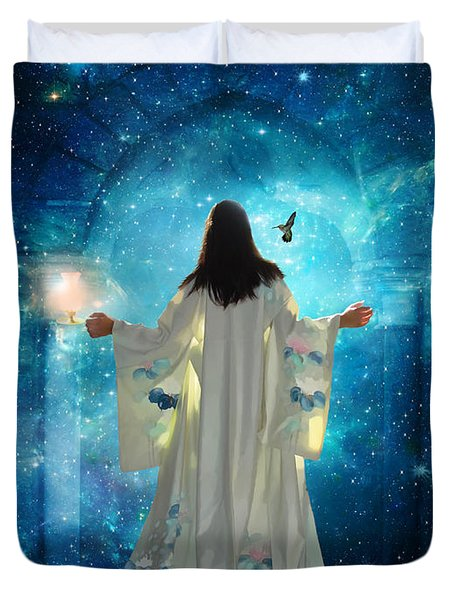 Heavens Door Duvet Cover