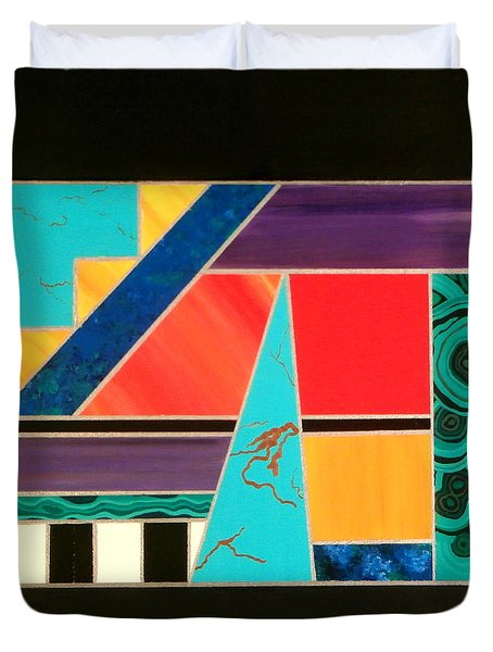 Homage To Inlay #2 Duvet Cover