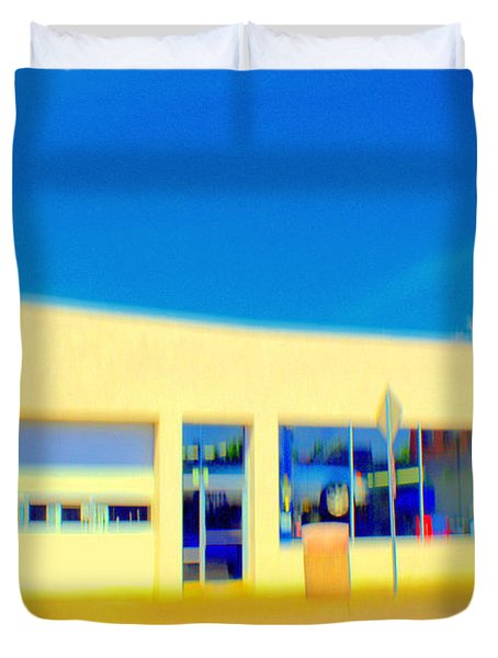 Hopper Garage Duvet Cover by Terence Morrissey