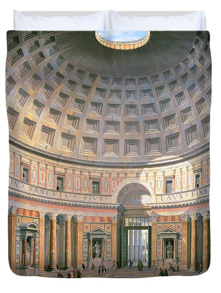 Interior Of The Pantheon Duvet Cover by Panini