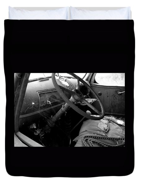 Duvet Cover featuring the photograph  Interiors Past by Randy Pollard