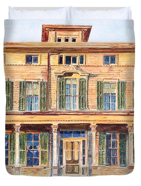 Italianate House Ny Duvet Cover by Anthony Butera