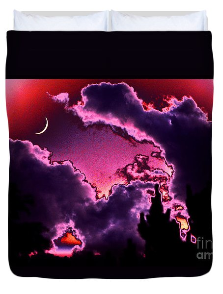 Duvet Cover featuring the photograph  June Moon by Susanne Still