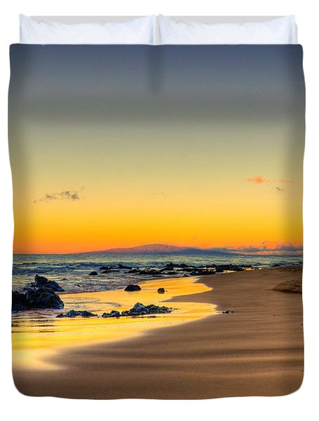 Keawakapu Beach Sunrise Duvet Cover