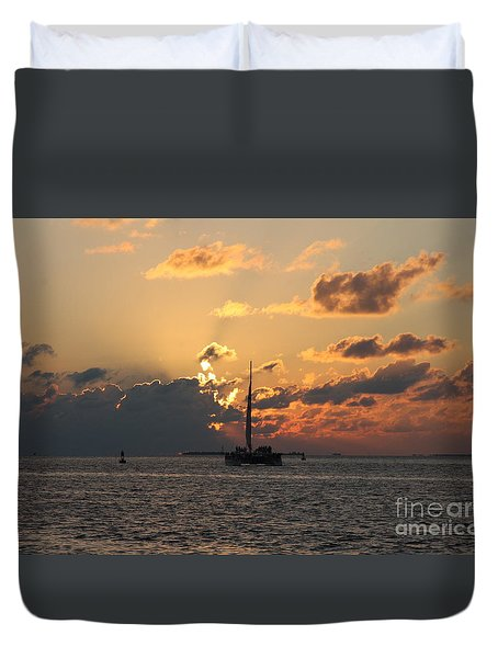 Duvet Cover featuring the photograph Marelous Key West Sunset by Christiane Schulze Art And Photography