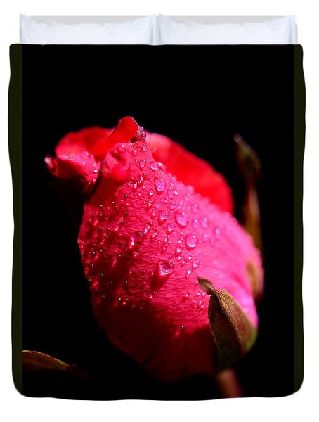 Duvet Cover featuring the photograph  La Rose by Michelle Meenawong