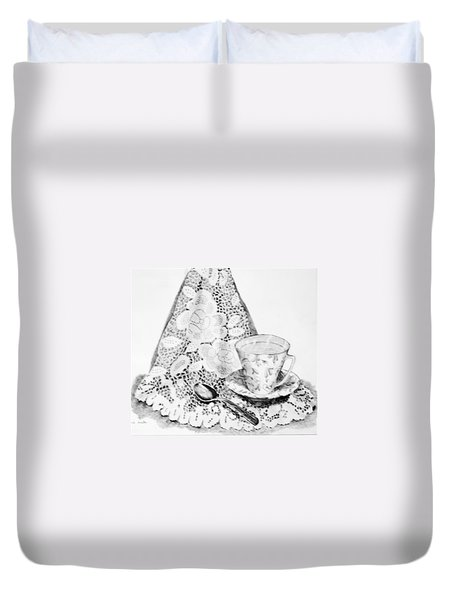 Lace With Cup Duvet Cover