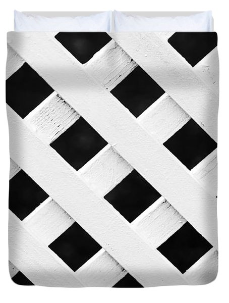 Lattice Fence Pattern Duvet Cover