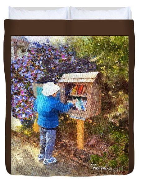 Alameda  Little Free Library Duvet Cover