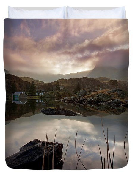 Llyn Ogwen Sunset Duvet Cover