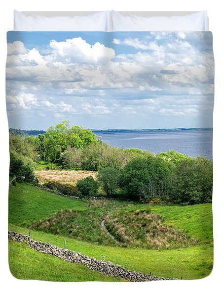 Duvet Cover featuring the photograph  Loch Coirib by Juergen Klust