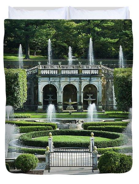 Longwood Gardens Fountains Duvet Cover