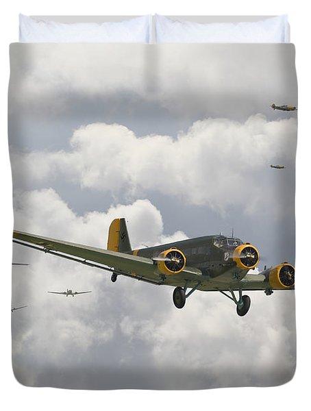 Luftwaffe Ju52  - Stalingrad Duvet Cover