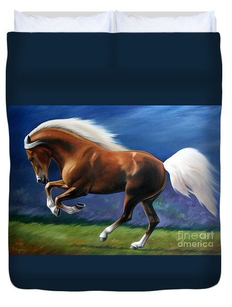 Magnificent Power And Motion Duvet Cover by Vivien Rhyan