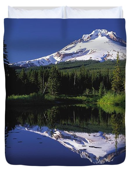 Duvet Cover featuring the photograph  Mount Hood Oregon  by Paul Fearn