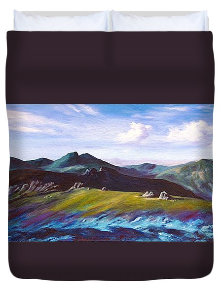 Mourne Mountains 1 Duvet Cover by Anne Marie ODriscoll