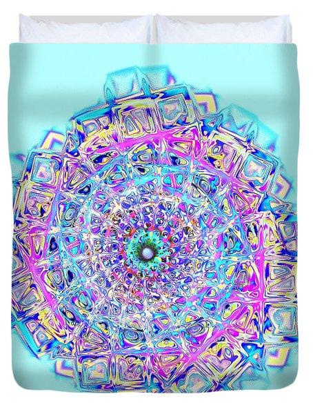 Murano Glass - Blue Duvet Cover by Anastasiya Malakhova