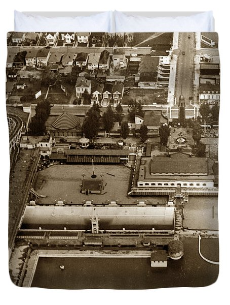 Neptune Beach Olympic Size Swimming Pool And A Roller Coaster Alameda Circa 1920 Duvet Cover