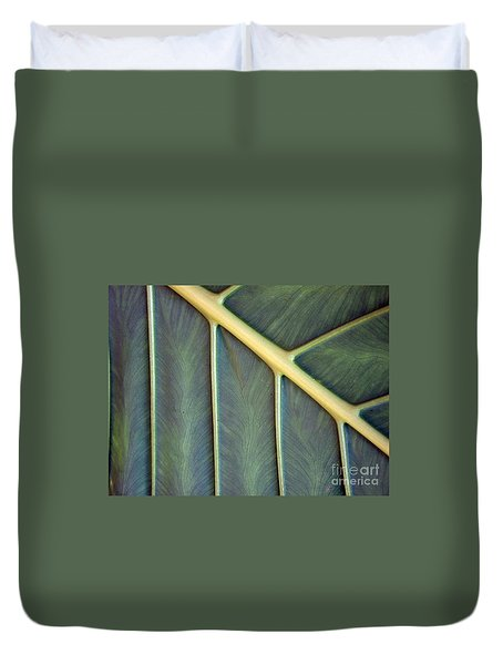 Duvet Cover featuring the photograph  Nervures by Michelle Meenawong