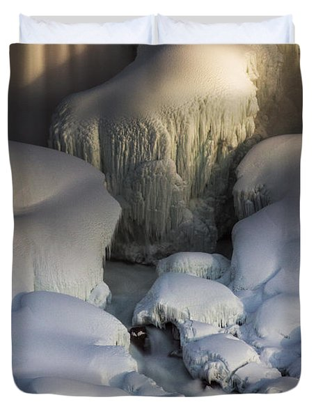 Duvet Cover featuring the photograph  Niagara Falls Frozen by JT Lewis