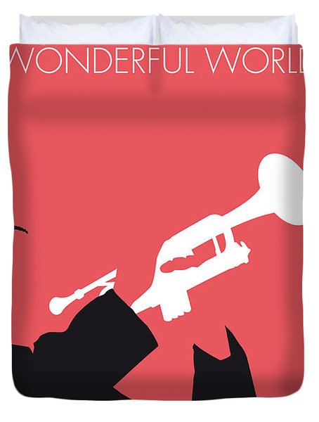 No012 My Louis Armstrong Minimal Music Poster Duvet Cover