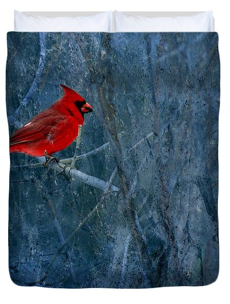 Northern Cardinal Duvet Cover by Thomas Young