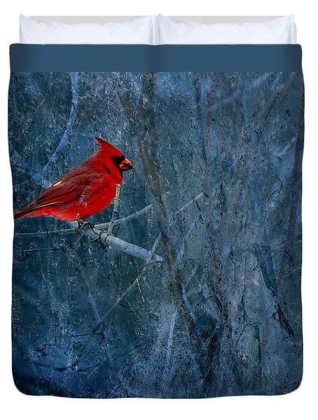 Northern Cardinal Duvet Cover