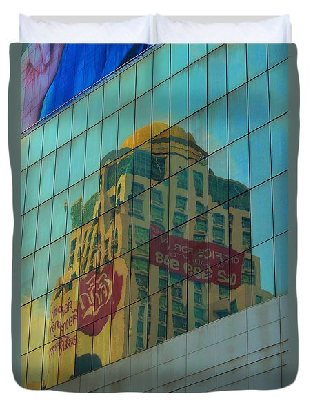 Duvet Cover featuring the photograph  Office For Sale by Michelle Meenawong