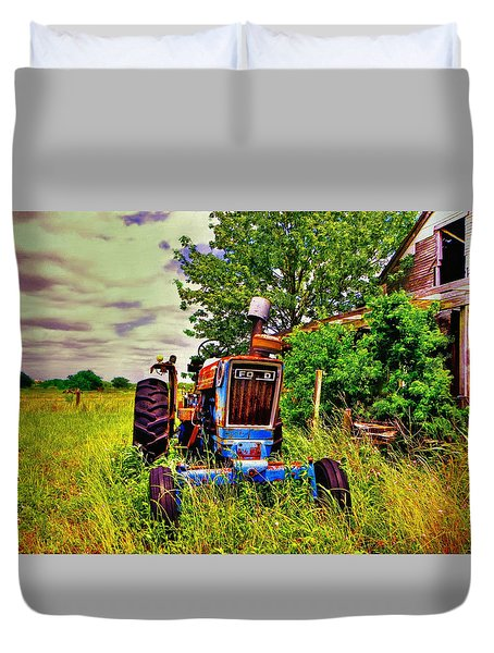 Old Ford Tractor Duvet Cover by Savannah Gibbs