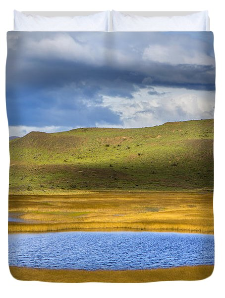 Patagonian Lakes Duvet Cover
