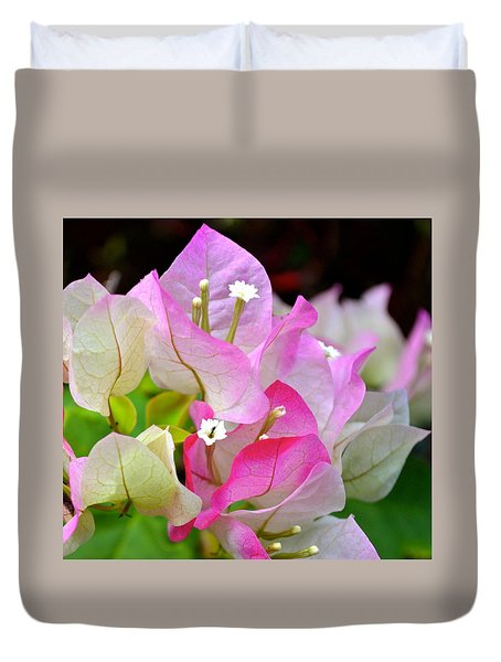 Pink  Bougainvillea ...with A Friend Duvet Cover