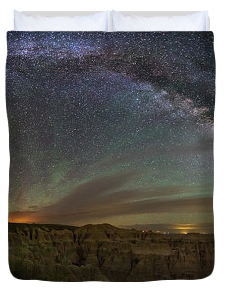 Pinnacles Overlook At Night Duvet Cover