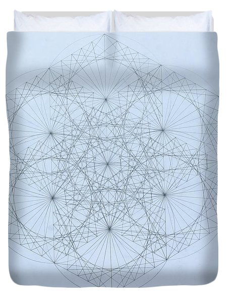 Quantum Snowflake Duvet Cover