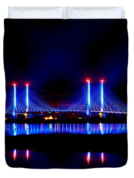 Reflecting Bridge - Indian River Inlet Bridge Duvet Cover