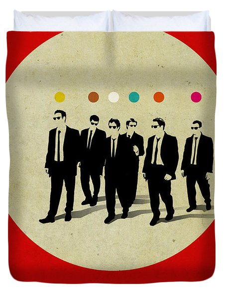 Reservoir Dogs Poster Duvet Cover by Naxart Studio