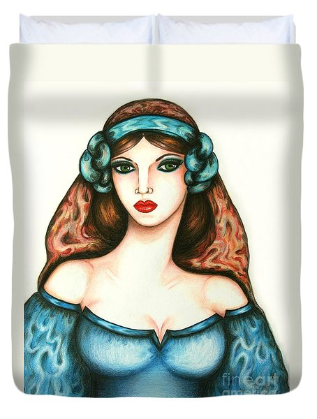 Roman Woman Duvet Cover