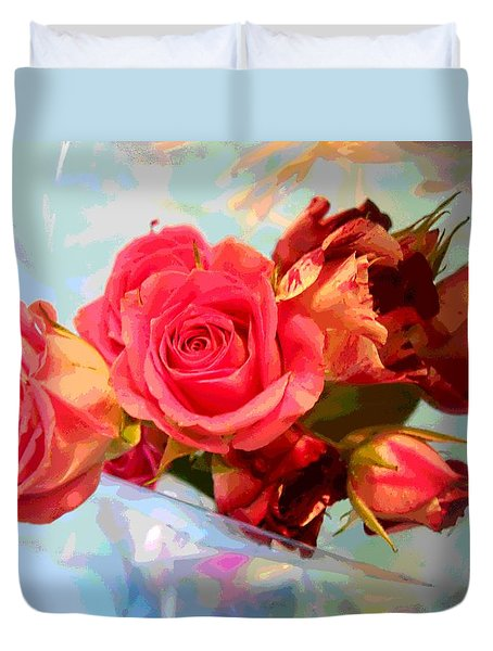 Roses 4 Lovers  Duvet Cover by Rogerio Mariani