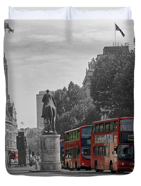 Routemaster London Buses Duvet Cover