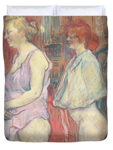 Rue Des Moulins Duvet Cover by Henri de Toulouse-Lautrec