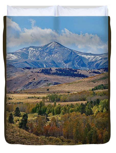 Duvet Cover featuring the photograph  Sierras Mountains by Mae Wertz