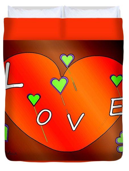 Simple  Love  Heart  - 505  Duvet Cover