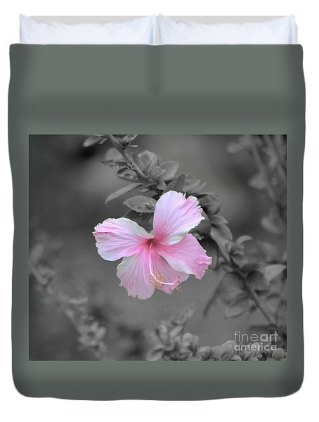 Duvet Cover featuring the photograph  Soft Pink by Michelle Meenawong