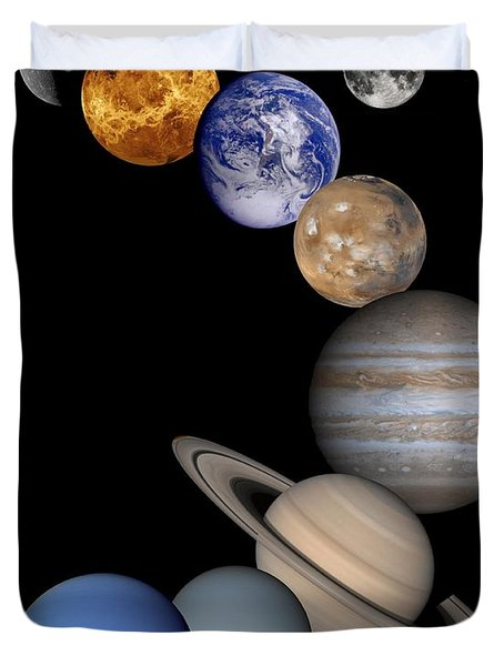 Solar System Montage Duvet Cover by Anonymous