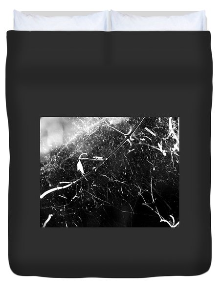 Duvet Cover featuring the photograph  Spidernet by Yulia Kazansky