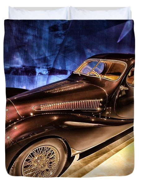 Duvet Cover featuring the photograph  Talbot Lago 1937 Car Automobile Hdr Vehicle  by Paul Fearn
