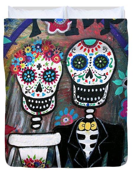 Te Amo Wedding Dia De Los Muertos Duvet Cover