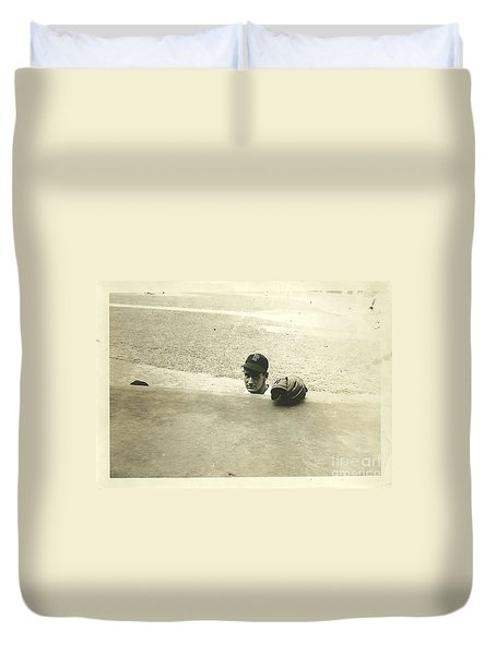 Ted Williams Duvet Cover by Diane Diederich