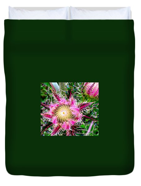 Duvet Cover featuring the photograph  Texas Thistles by Antonia Citrino